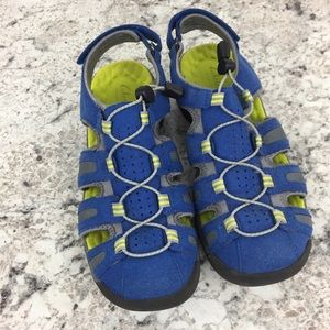 Clarks Blue Neon Green Water Hiking Trail Sandals